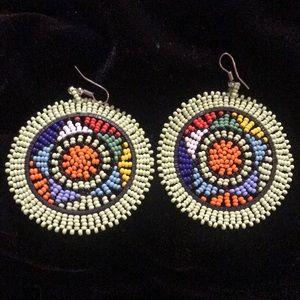 Handcrafted Colombian Beaded Earrings